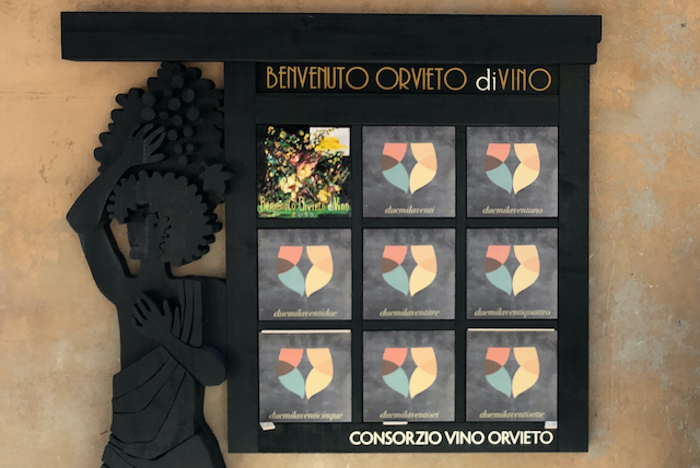 Benvenuto Orvieto diVino 2020, posa della mattonella celebrativa